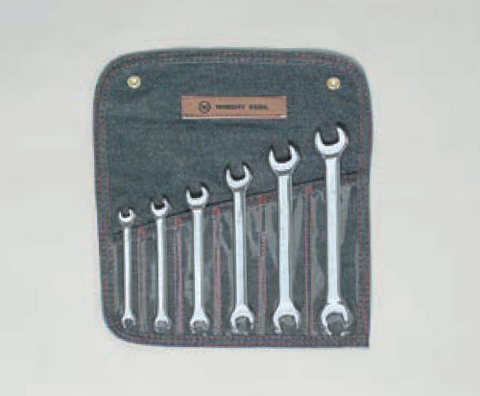 6 Pc. Metric Open End Wrenches 8x9 - 18x19-Wright Tools