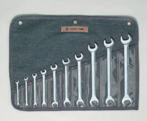 10 Pc Metric Open End Wrenches 6x7 - 24x26-Wright Tools