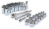 52 Pc SAE/Metric Std/Deep Socket Set-Crescent