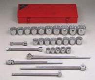 "1"" Dr., 29 Pc. 12 Pt. Std. Socket Set, 1-7/16"" - 3-1/8""-Wright Tools"