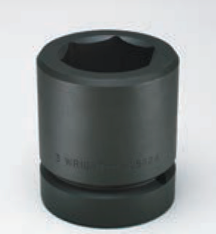 "2-1/2"" Drive Metric 6 Point Impact Socket-Wright Tools"