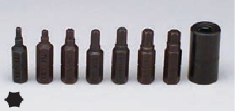 8 Pc. Torx Bit Set T8 - T30 and Adaptor Skin packed-Wright Tools