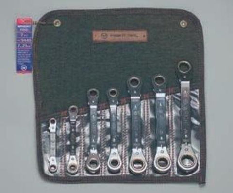 7 Pc. Ratcheting Box Wrench Set, Offset 7mm - 21mm-Wright Tools