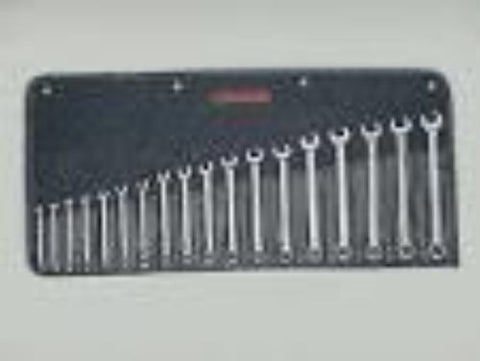 18 Pc. Full Polish Metric Combination Wrenches 7mm-24mm-Wright Tools