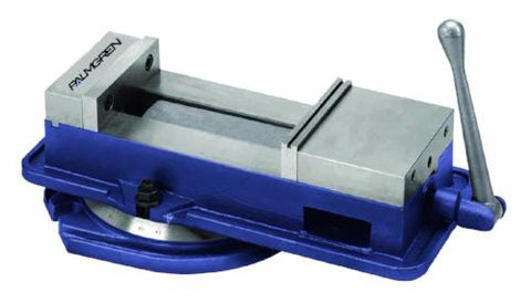"Precision dual force milling machine vise w/stationary base, 6""-Palmgren"