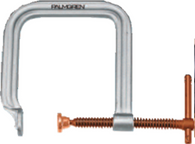 Regular Duty Extra Deep Throat C-Clamp / Copper Spindles-Palmgren