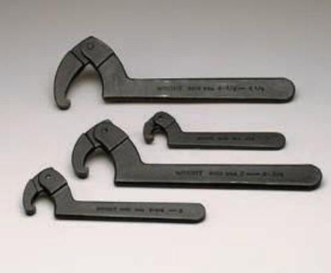 4 Pc. Adjustable Hook Spanner Wrench Set 9630-9633-Wright Tools