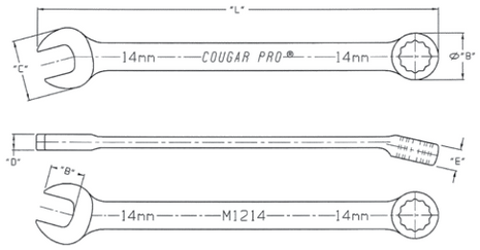 Metric Combination Wrench-Full Polish-Cougar Pro