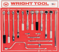 "18 Pc. 1/2"" Dr. Handles & Attachments-Wright Tools"