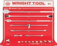 "16 Pc. 3/4"" Dr. 12 Pt. Sockets, Handles & Attachments-Wright Tools"