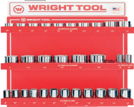"30 Pc. 3/4"" Dr. 12 Pt. Standard and Deep Sockets-Wright Tools"