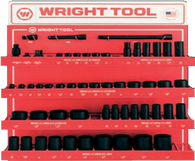 "55 Pc. 1/2"" Dr. 6 & 12 Pt. Standard & Deep Impact Sockets & Attachments-Wright Tools"