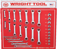 29 Pcs. Ratcheting Box Wrenches, Flare Nut Wrenches, & Open end Crowfoot Wrenches-Wright Tools