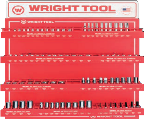 "78 Pc.Metric 1/4"" & 3/8"" Dr. 6 & 12 Pt. Sockets-Wright Tools"