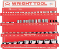 "61 Pc.Metric 1/2"" & 3/4"" Dr. 12 Pt. Sockets-Wright Tools"
