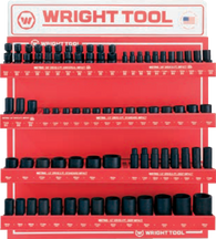"94 Pc. Metric 3/8"" & 1/2"" Dr. 6 Pt. Standard & Deep Impact Sockets-Wright Tools"