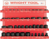 "43 Pc. 3/4"" Dr. 6 Pt. Standard and Deep Sockets-Wright Tools"