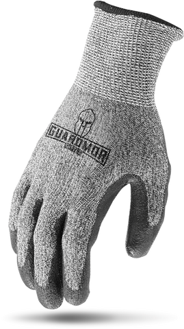 G15GKP-KM - CUT RESISTANT W/ PU PALM - 13g Glassfiber Knit Glove with PU Palm-Guardmor