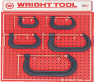 5 Pc.  C-Clamps-Wright Tools