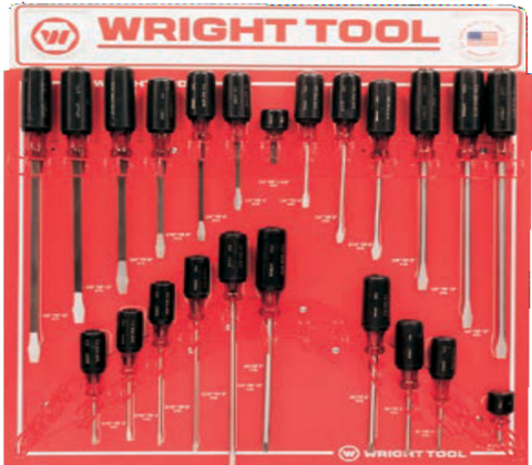 23 Pc. Large Cushion-Grip Handle Screwdrivers-Wright Tools