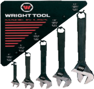 30 Pc. Adjustable Wrenches Black, 6 each size-Wright Tools