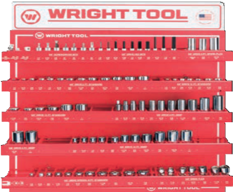 "34 Pc. 3/8"" Dr. Handles & Attachments-Wright Tools"