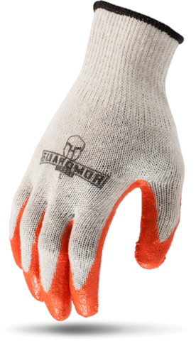 G15MCL-WM - LATEX PALM - White Mixed Fiber Knit Glove With Latex Palm-Guardmor