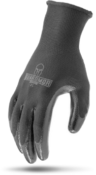 G15PSN-KM - SMOOTH NITRILE PALM Black 13g Polyester Knit Glove with Latex Palm-Guardmor