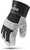 SPLIT LEATHER Glove with Black Dorsal Per Dozen-Guardmor