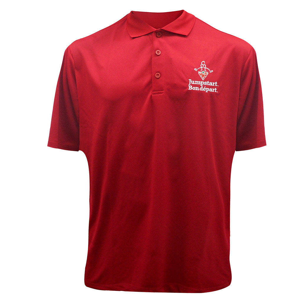 CTC Jumpstart Red Adult Golf Polo Shirt - Unisex