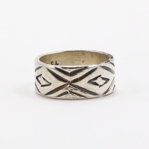 TAXCO MEXICO CROSSOVER BAND RING - SIZE 9-Ring-BRETHREN + SISTREN