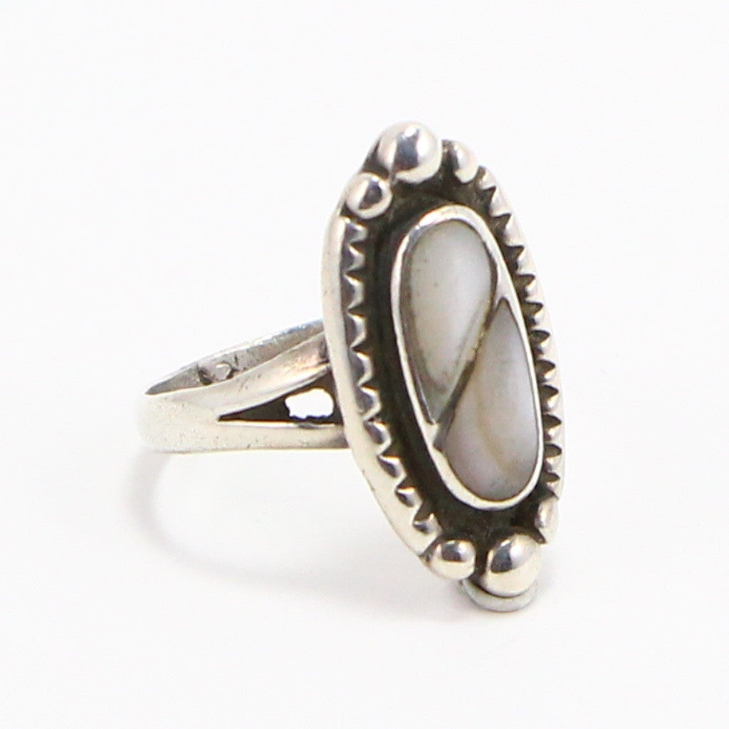 NAVAJO MOTHER OF PEARL RING - SIZE 6.25-Ring-BRETHREN + SISTREN