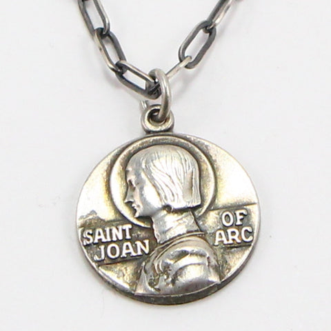 ST. JOAN OF ARC RELIGIOUS MEDAL NECKLACE-Necklaces-BRETHREN + SISTREN