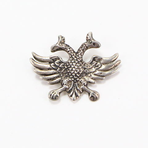 HERALDIC DOUBLE HEADED EAGLE PIN-Pins-BRETHREN + SISTREN