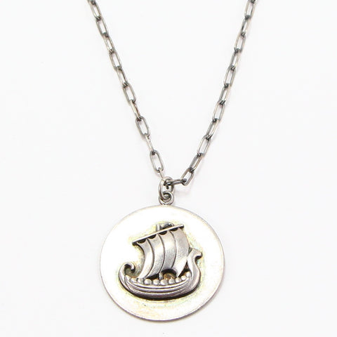DANISH SHIP NECKLACE-Necklaces-BRETHREN + SISTREN