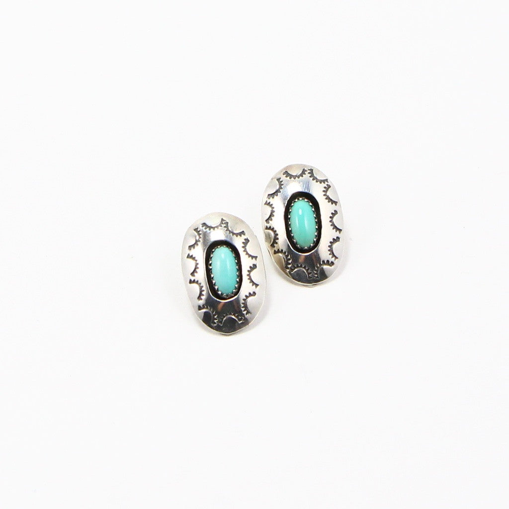 NAVAJO TURQUOISE EARRINGS-Earrings-BRETHREN + SISTREN