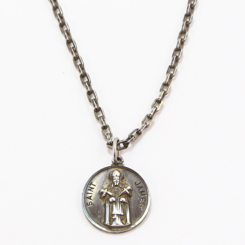 ST. JAMES RELIGIOUS MEDAL NECKLACE-Necklaces-BRETHREN + SISTREN