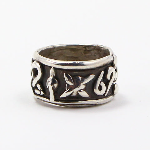 HAND MADE ZODIAC BAND RING - SIZE 8.25-Ring-BRETHREN + SISTREN