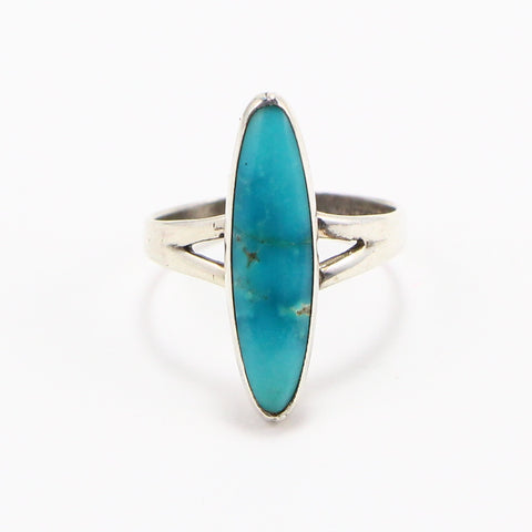 ELONGATED TURQUOISE RING - SIZE 8.5-Ring-BRETHREN + SISTREN