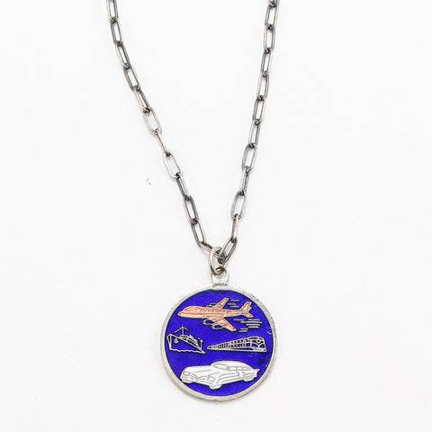 ST. CHRISTOPHER TRAVELLER'S MEDAL NECKLACE-Necklaces-BRETHREN + SISTREN