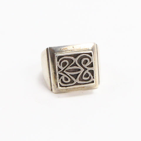 MEXICAN MAYAN SIGNET RING - SIZE 8-Ring-BRETHREN + SISTREN