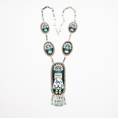 ZUNI BEVERLY ETSATE KACHINA STATEMENT NECKLACE-Necklaces-BRETHREN + SISTREN