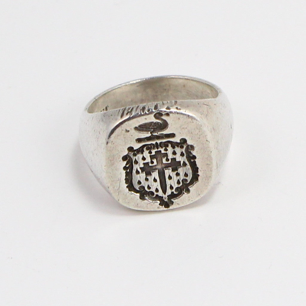 BRITISH CROSS WAX SEAL RING - SIZE 9.5-Ring-BRETHREN + SISTREN