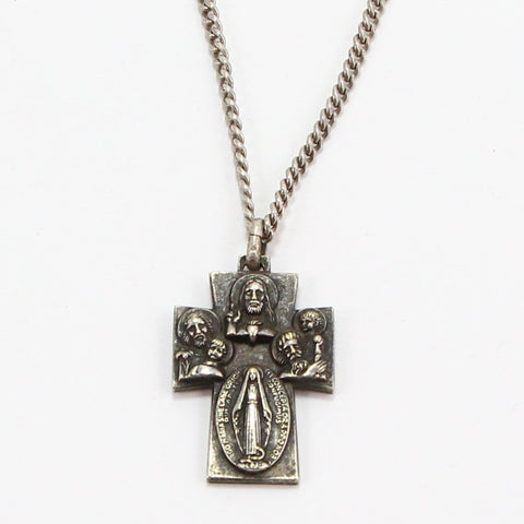 VIRGIN MARY RELIGIOUS MEDAL NECKLACE-Necklaces-BRETHREN + SISTREN