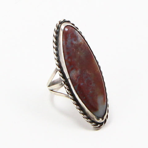 ELONGATED RED JASPER RING - SIZE 9.25-Ring-BRETHREN + SISTREN