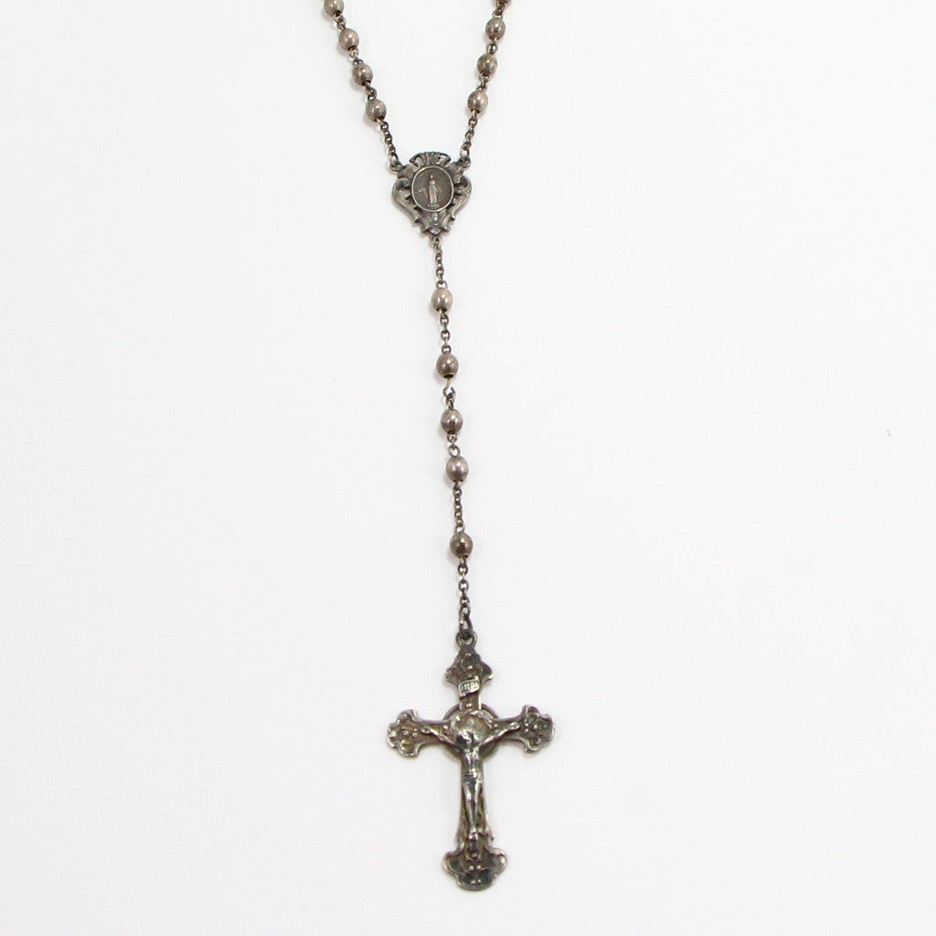ANTIQUE CATHOLIC ROSARY-Necklaces-BRETHREN + SISTREN