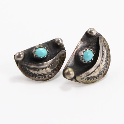 NAVAJO SNAKE EYE TURQUOISE EARRINGS-Earrings-BRETHREN + SISTREN