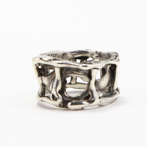 HAND MADE BRUTALIST BAND RING - SIZE 9-Ring-BRETHREN + SISTREN