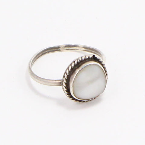 NAVAJO MOTHER OF PEARL RING - SIZE 9.5-Ring-BRETHREN + SISTREN