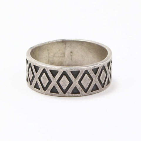 MEXICAN GEOMETRIC BAND RING - SIZE 14.5-Ring-BRETHREN + SISTREN